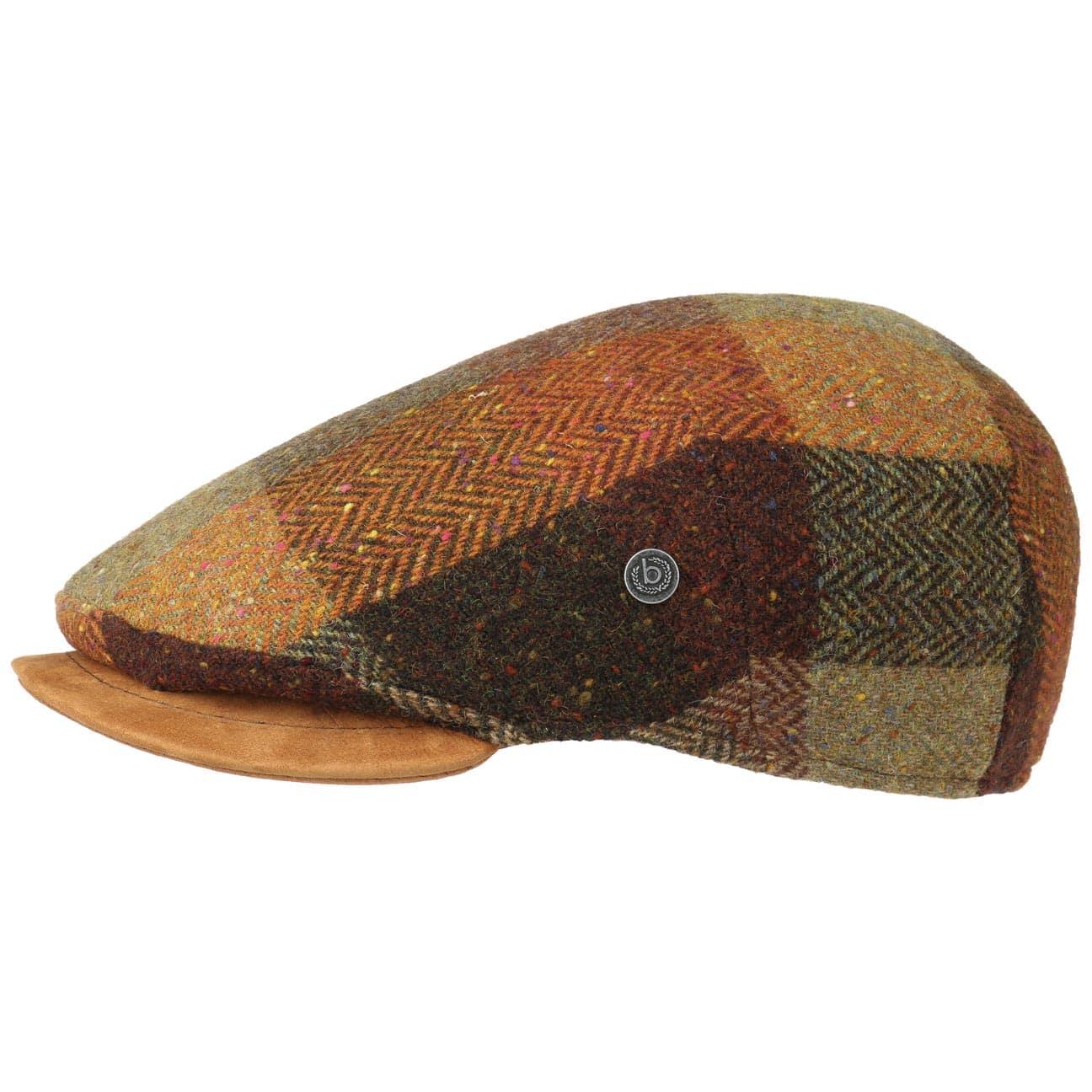 b0dbe4ffcdf Colour Melange Ledervisor Flatcap by bugatti